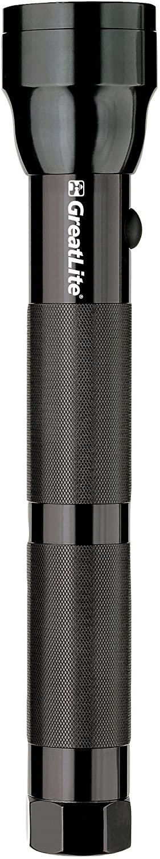 GreatLite 32024 3D Hi-Intensity Aluminum Flashlight, Black