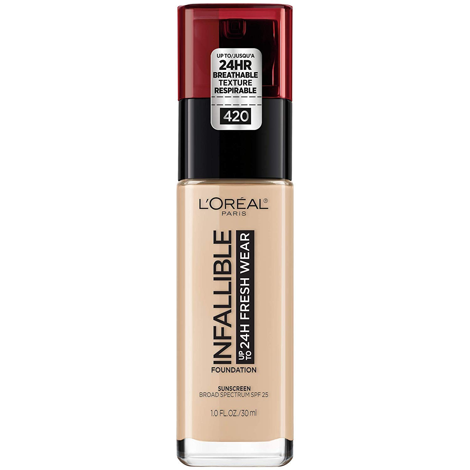 L'Oreal Paris Makeup Infallible Up to 24 Hour Fresh Wear Foundation, True Beige, 1 fl. Ounce