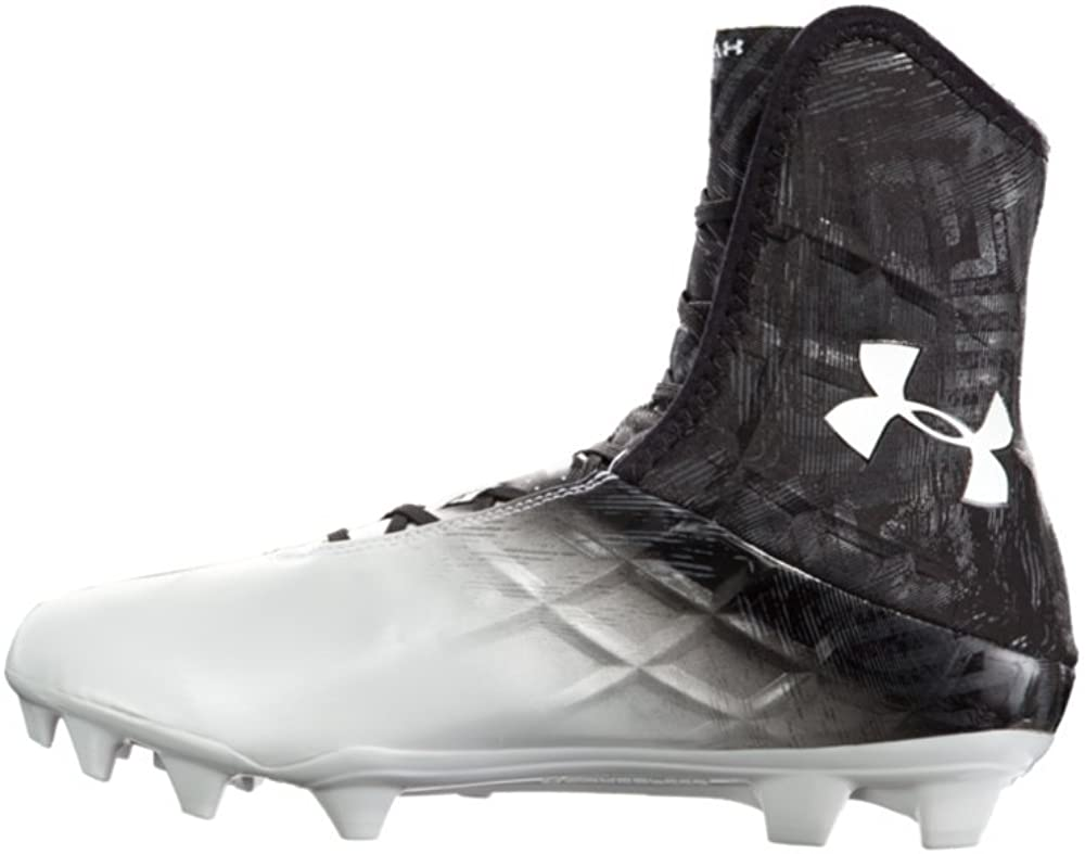 Under Armour Men's Highlight MC Football Cleat Black/White Size 11.5
