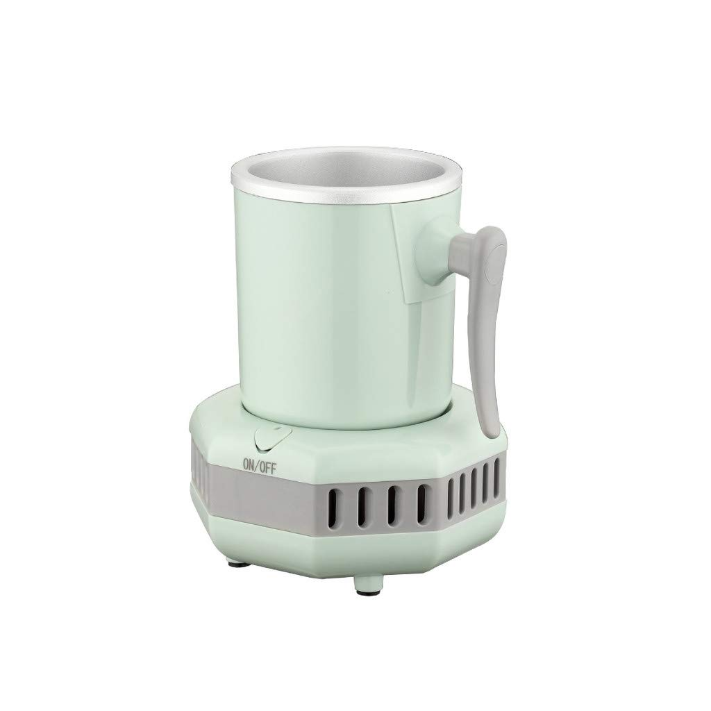 Cooler Cups,Smart Beverage Cooler Cup Fast Cooler Electric Cooling Mug Cup Mini Desktop Beverage Mini Refrigerator Cooler Aluminum Mug For Beer Cola Water Milk Wine Drink (Green)