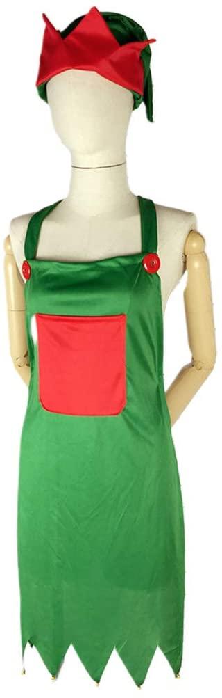 Fengkengji Christmas Elf Apron Elf Hat Suit
