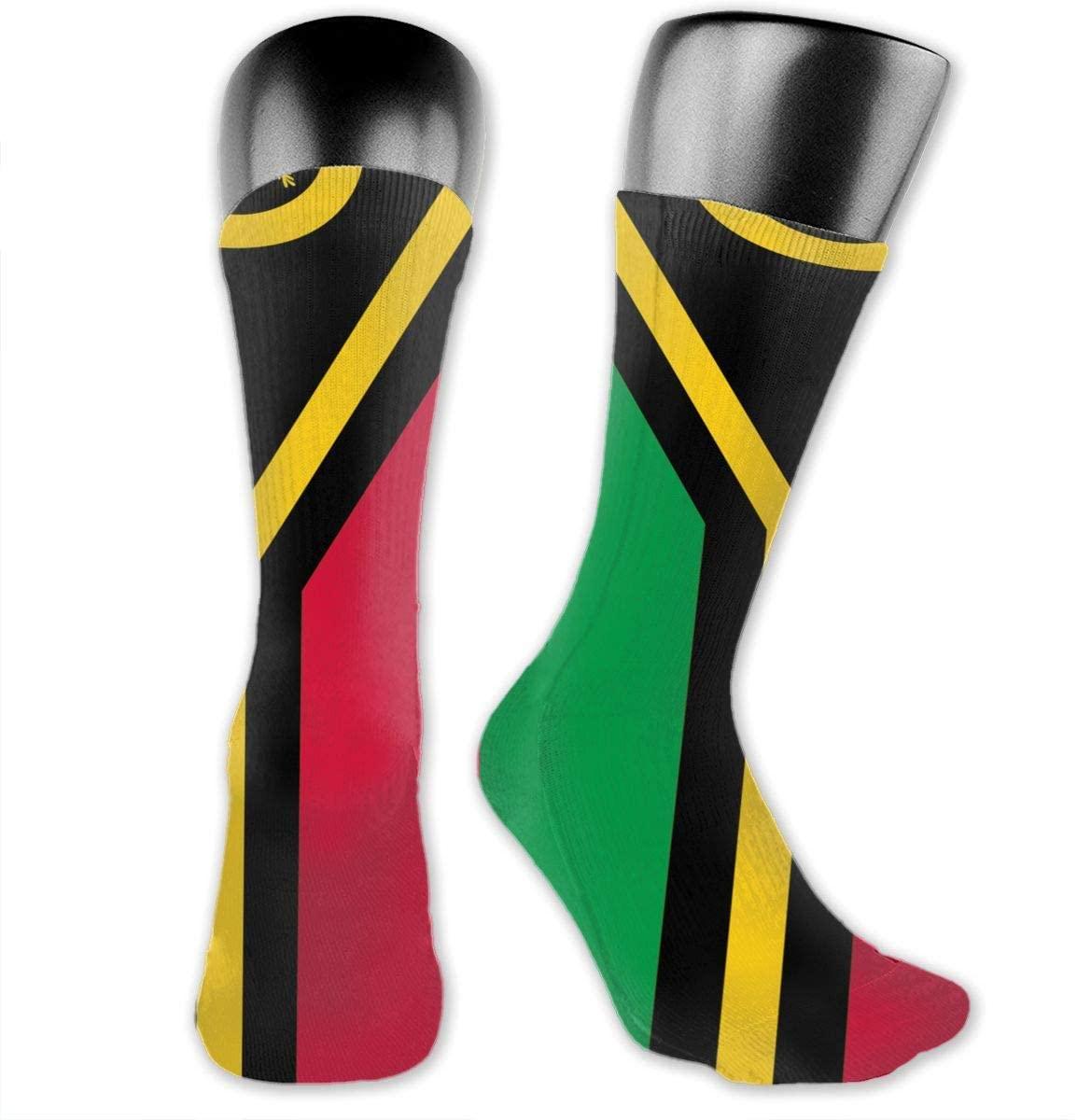 Flag of Vanuatu Unisex Outdoor Long Socks Sport Athletic Crew Socks Stockings