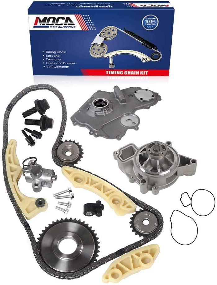 MOCA Timing Chain Kit & Oil Pump & Water Pump Kit Compatible with 05-08 for Chevrolet Cobalt & 04-08 for Chevrolet Malibu & 02-05 Pontiac Grand Am & Pontiac Sunfire & for Chevrolet Cavalier 2.2L