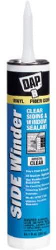 DAP 7079800816 Sidewinder Siding Sealant Raw Building Material, 10.1 oz, Crystal Clear