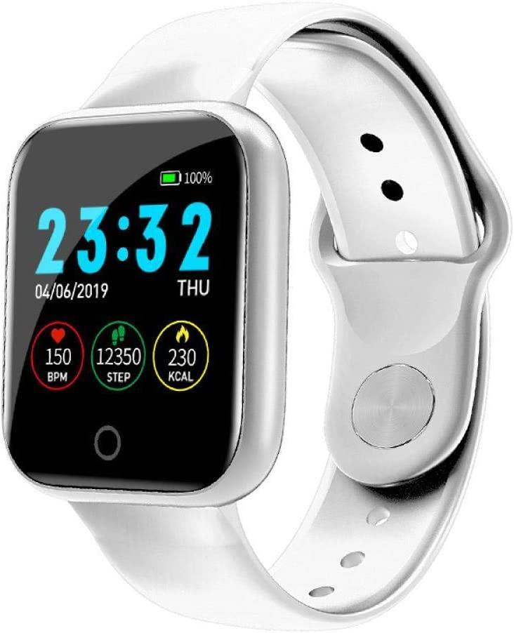 Activity Tracker Intelligence Smart Watch Pedometer Music Control Multiple Dials Heart Rate Fitness Smartwatch Men Women White