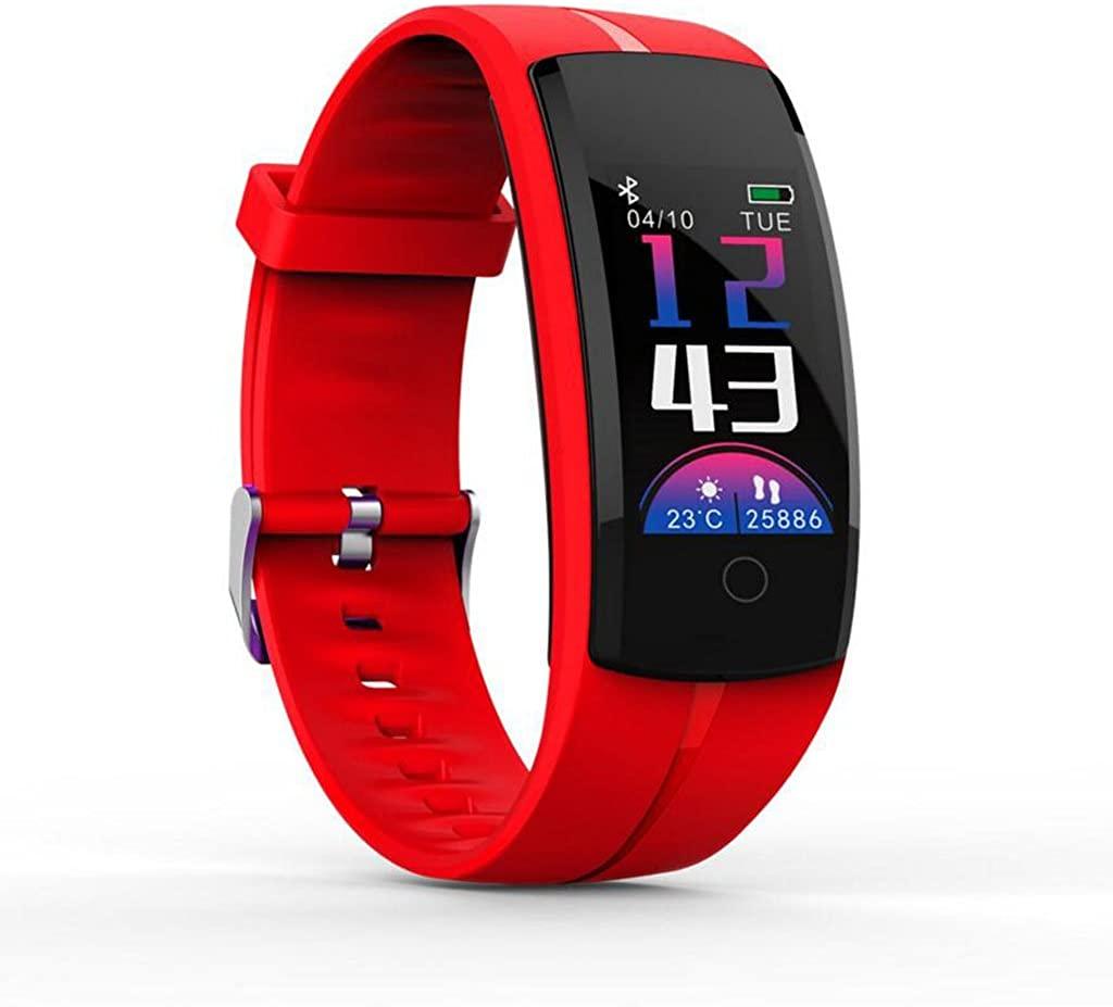 Intelligent Heart Rate Blood Pressure Oxygen Wristband of The Color Screen Intelligent Bracelet Depth Waterproof smartwatch (Blue)
