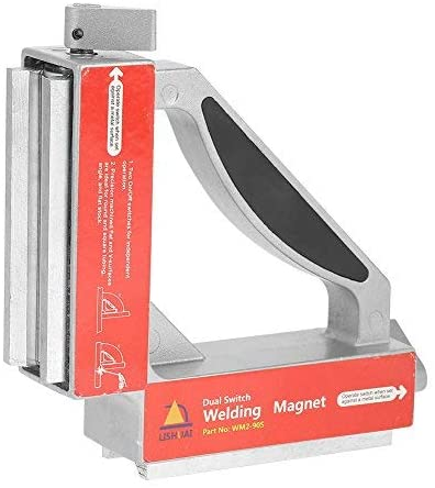 Magnetic welding template, dual switch 90 degree magnet welding accessory Strong magnetic welder template holder