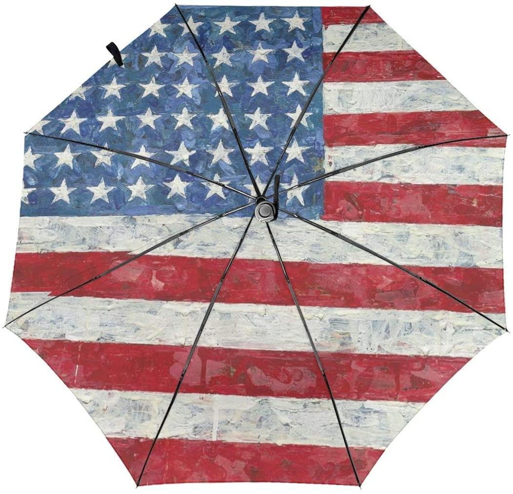 Speed FQ American Flag Painting Folding Umbrella Travel Fashion Automatic Umbrella