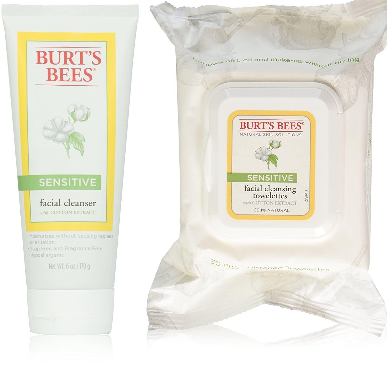 Burt's Bees Sensitive Facial Cleanser 6 fl. Oz PLUS 30 Count Sensitive Towelettes