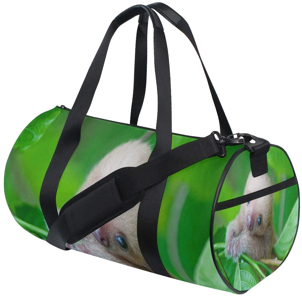 Foldable Duffle Bag Unbelievably Cute Baby Sloths Lightweight Travel Sports Gym Bags Overnight for Women Men