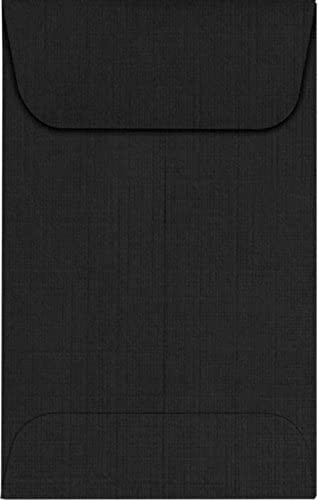 LUXPaper Coin Envelopes, Black Linen, 2 1/4-Inch x 3 1/2-Inch, 50-Count