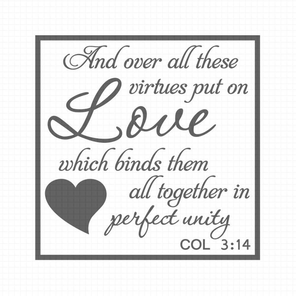 and Over All These Virtues Put on Love, pre-Inked Rubber Stamp (#100659-30BE)