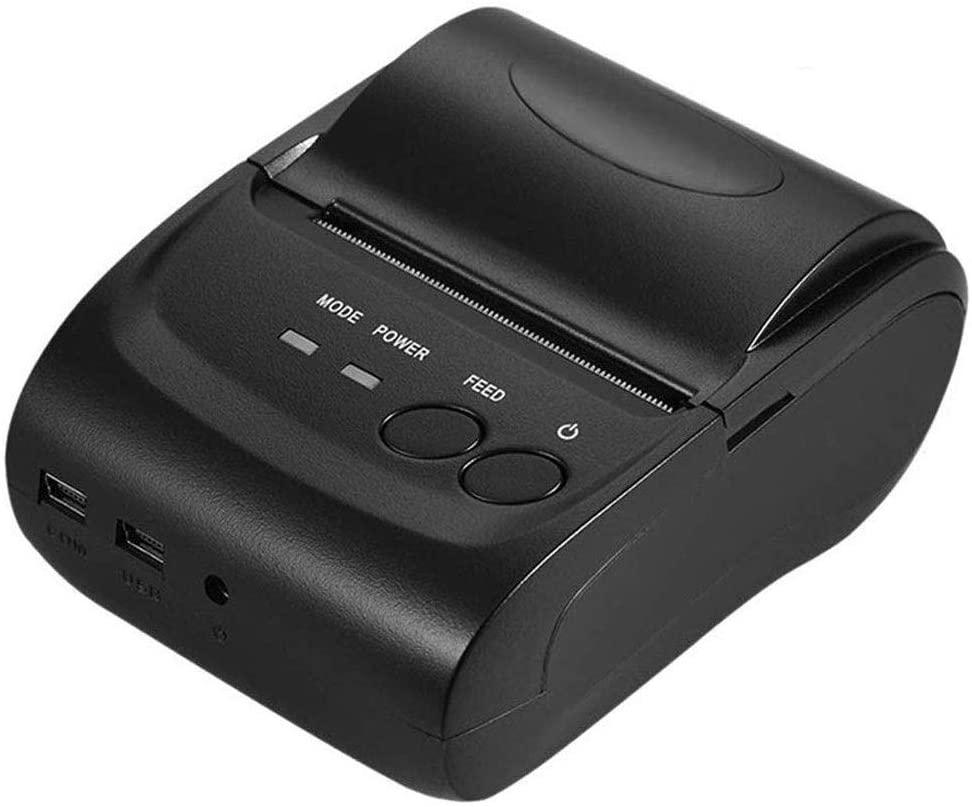 ZDMSEJ Bluetooth and USB Thermal Printer, 58mm Mini Portable Wireless USB Receipt Ticket POS Printer Printing, for iOS, Android, Window