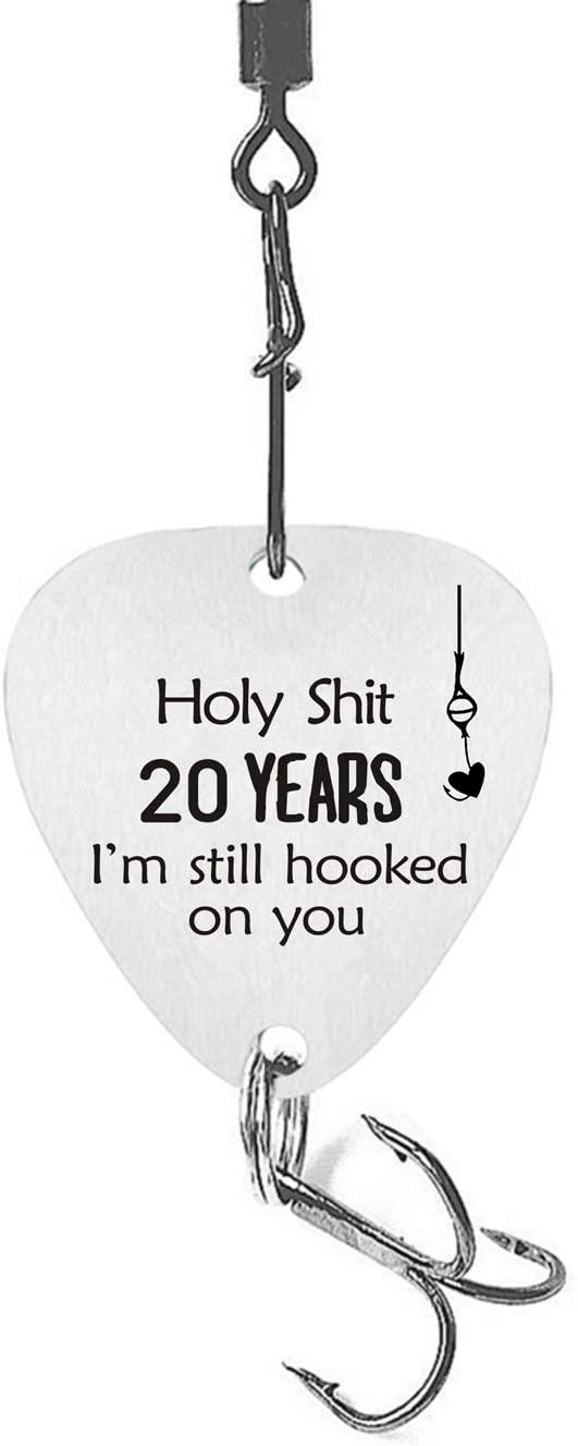 20th Wedding Anniversary Fishing Hook 20 Years Wedding 20th for Husband 20th Anniversary Fisherman Gift