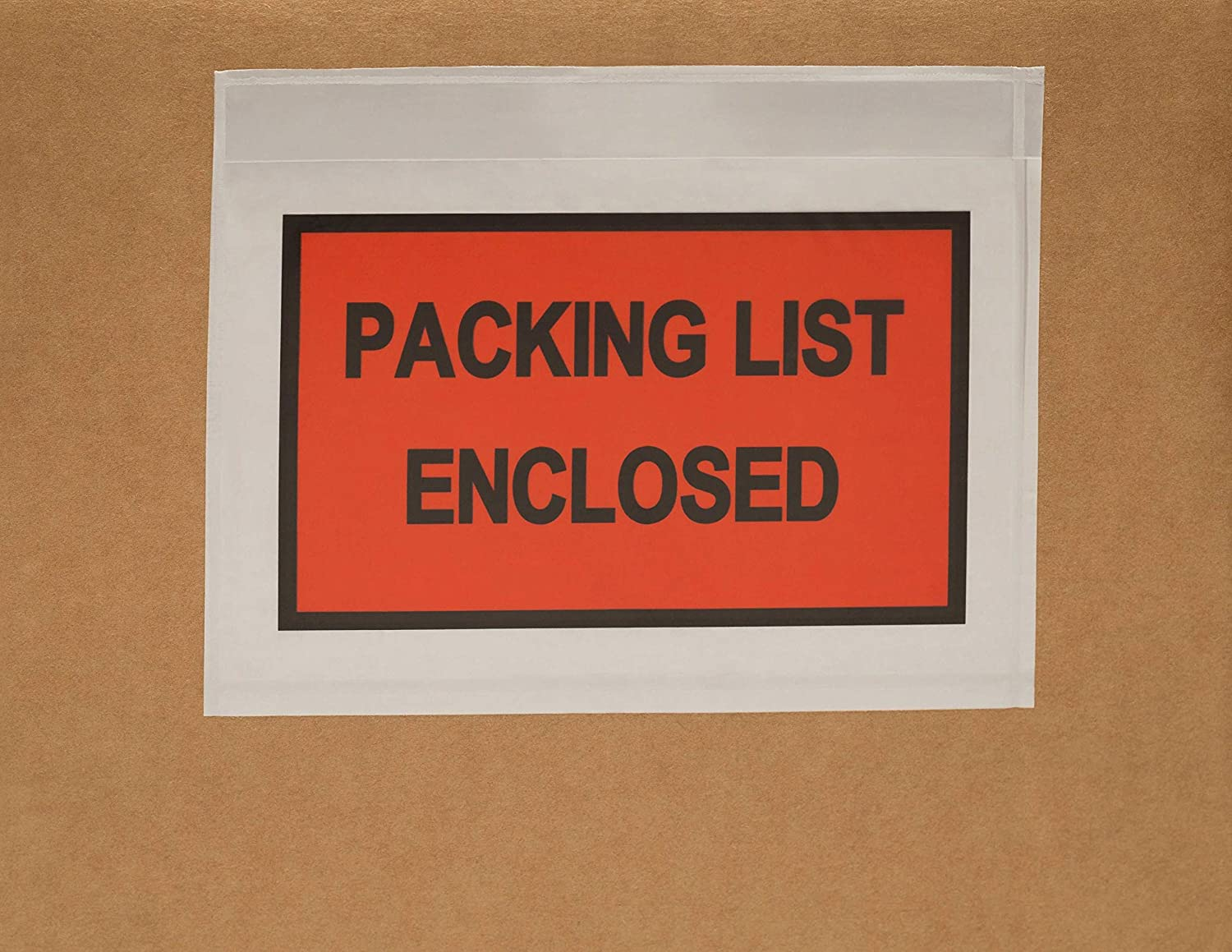 Packing List Enclosed Envelopes 7