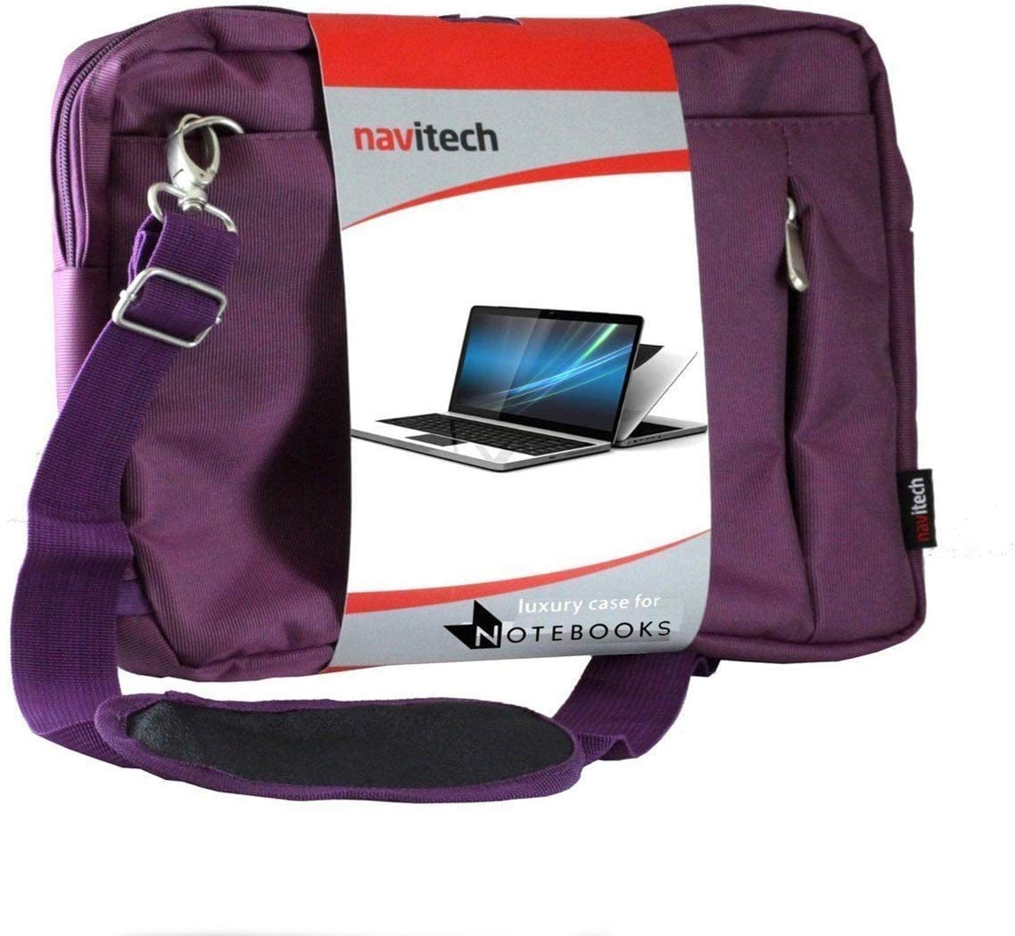 Navitech Purple Sleek Premium Water Resistant Laptop Bag - Compatible with The CHUWI UBook 11.6 Inch 2 in 1 Tablet PC