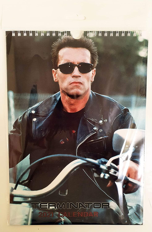 Terminator Wall Calendar New 2021 A4 Arnold Schwarzenegger