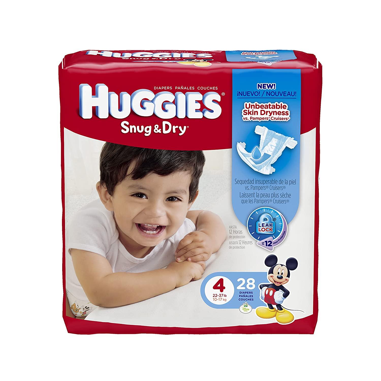 Huggies Snug & Dry Diapers, Size 4, 28 ct