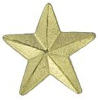 3/8 Inch Gold Star Lapel Pin - Package of 12, Poly Bagged