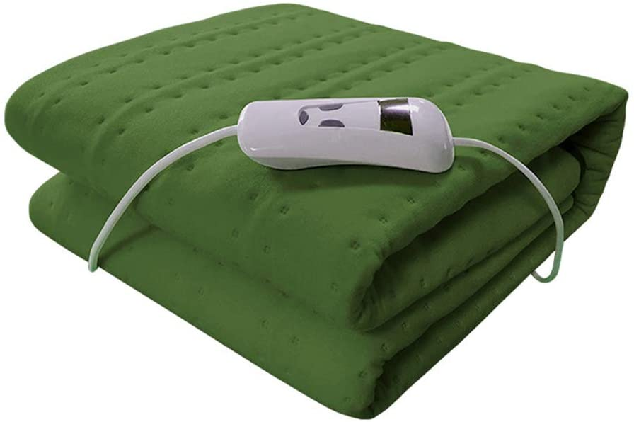 Ljings Large Electric Heating Blanket for Moist & Dry Heat,for Muscle Cramps,Heated Pad with Adjustable Temperature Settings,Auto Shut Off,59 X 30 Inch,DarkGreen
