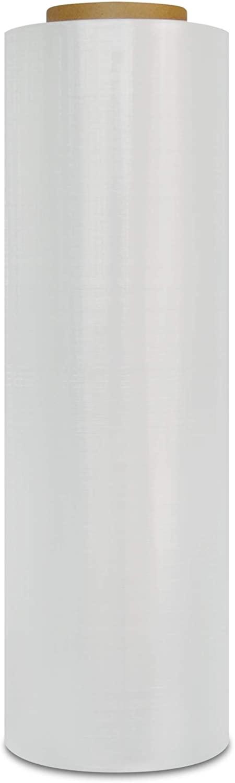 Plastic Packing Wrap, Blown Stretch Film Rolls, Clear, 18 Inch x 1000 Feet, 100 Gauge, 4 Pack