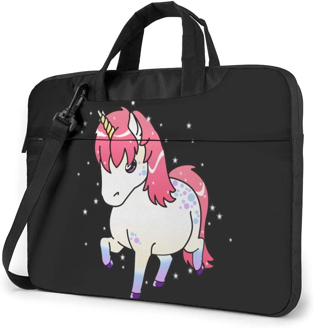 Baby Unicorn Laptop Shoulder Bag with Handle Carrying Messenger Handbag