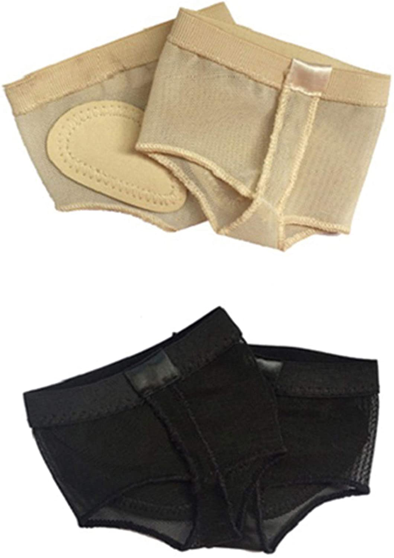 Wuchieal Womens 2 Pairs Dance Paws Pad Foot Thongs Toe Undies Half Lyrical Shoes Socks