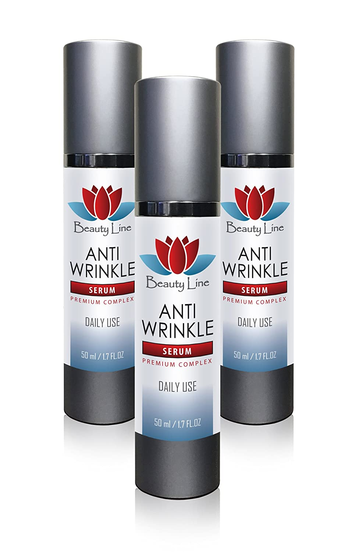 Vit c serum for face - ANTI WRINKLE SERUM PREMIUM COMPLEX - Reduce wrinkles - 3 Bottles