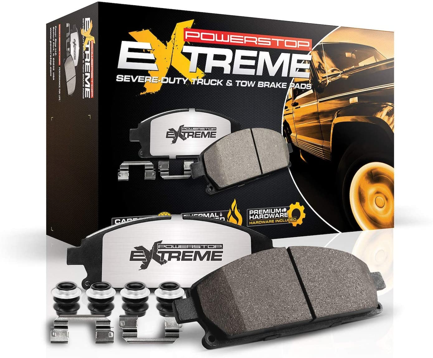Power Stop Z36-370, Z36 Truck & Tow Carbon-Fiber Ceramic Front Brake Pads