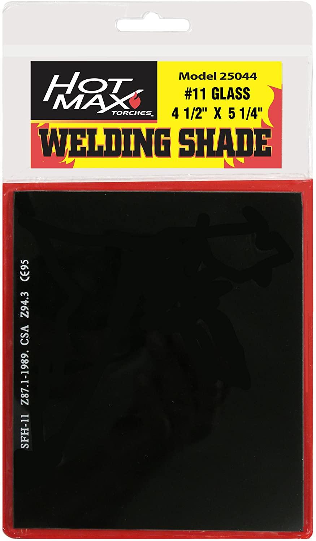 Hot Max 25044#11 Helmet Shade 4-1/2-Inch by 5 1/4-Inch Welding Helmet Replacement Lens