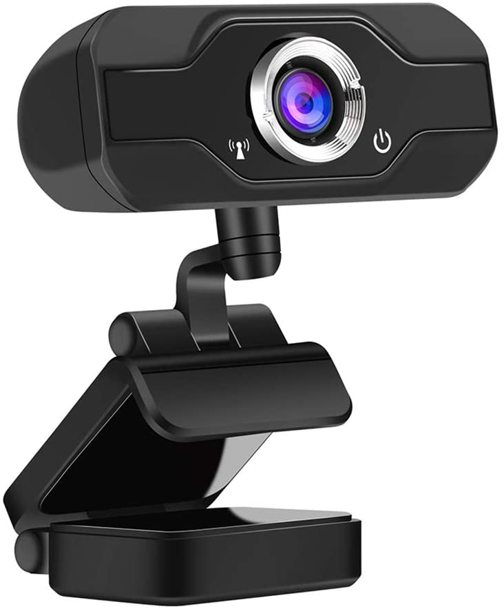 Hamosky HD PC Webcam, 1080P Full HD Webcam USB Desktop & Laptop Webcam Live Streaming Webcam with Microphone Widescreen HD Video Webcam 90-Degree Extended View for Video Calling (1080P)