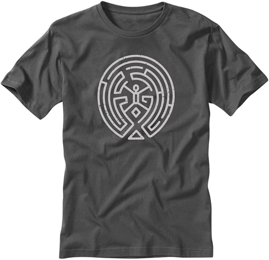 TeeINKS Westworld Maze Graphic Black T Shirt
