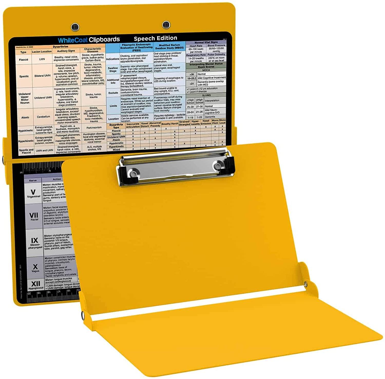 WhiteCoat Clipboard - Yellow - Speech-Language Pathology Edition