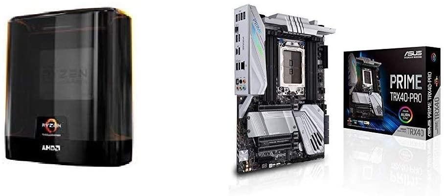 AMD Ryzen Threadripper 3960X Processor with Asus Prime TRX40-PRO AMD 3rd Gen Ryzen Threadripper Strx4 ATX Motherboard