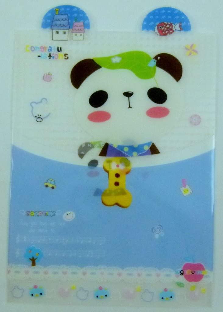 Cute Animal Ear Plastic Folder (Panda music)