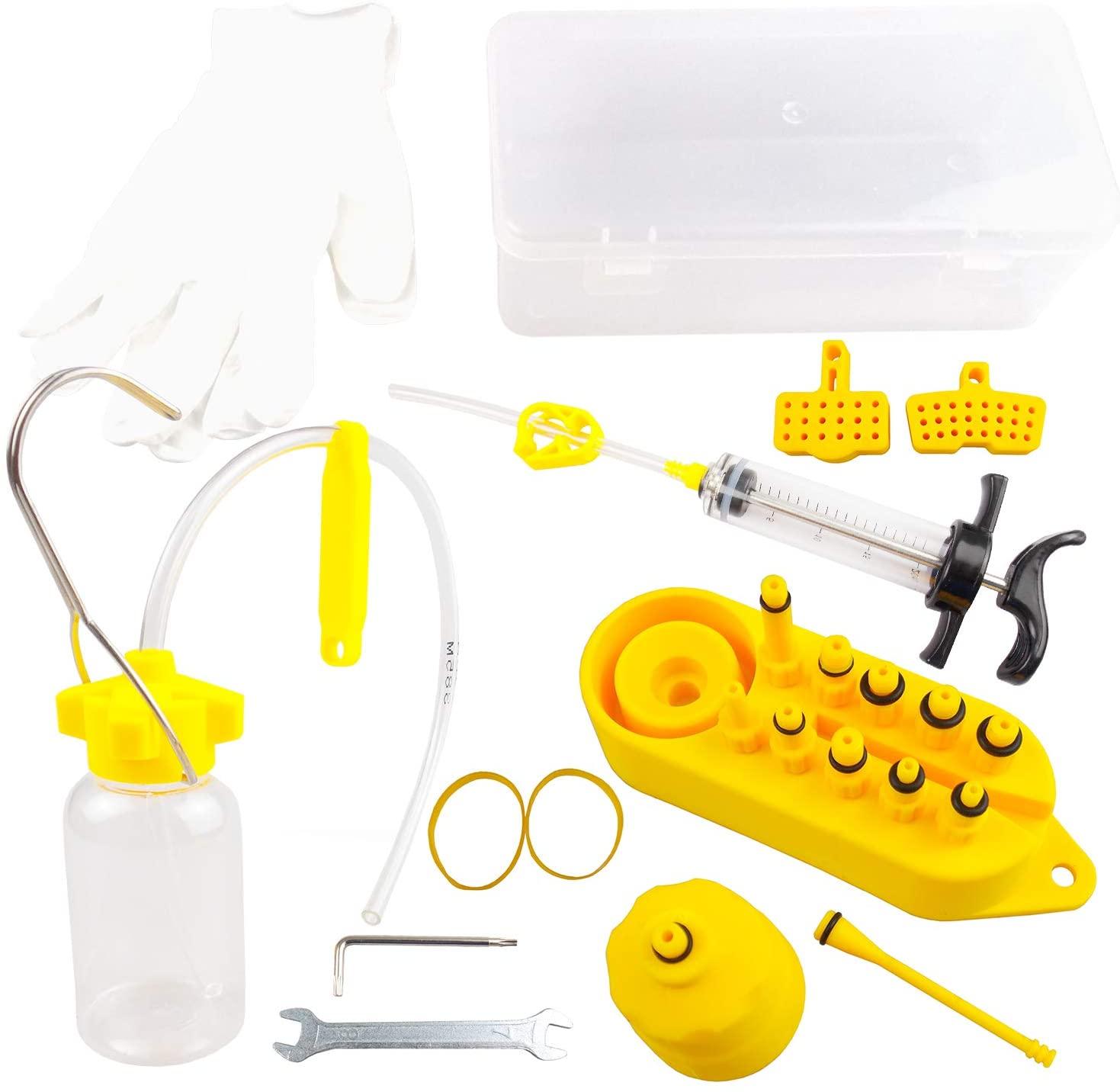 Lixada Bike Repair Tool Kits Professional Hydraulic Disc Brake Bleed Kit Hydraulic Mineral Disc Brake Bleed Kit Tool for All Dot Brakes
