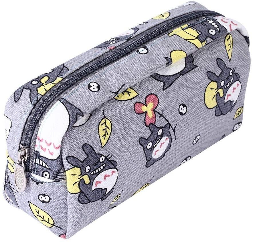 My Neighbor Totoro Pen Bag Pencil Case Cosmetic Makeup Bag Pouch (Grey)