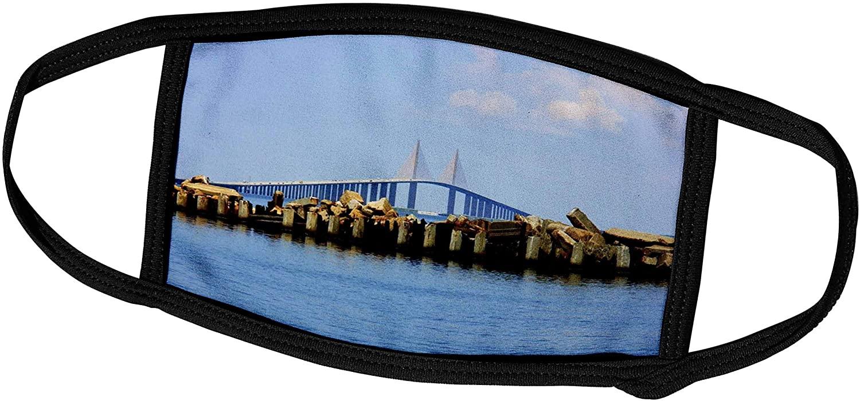 3dRose Florene America The Beautiful - The Sunshijne Bridge Tampa Florida - Face Masks (fm_56140_1)