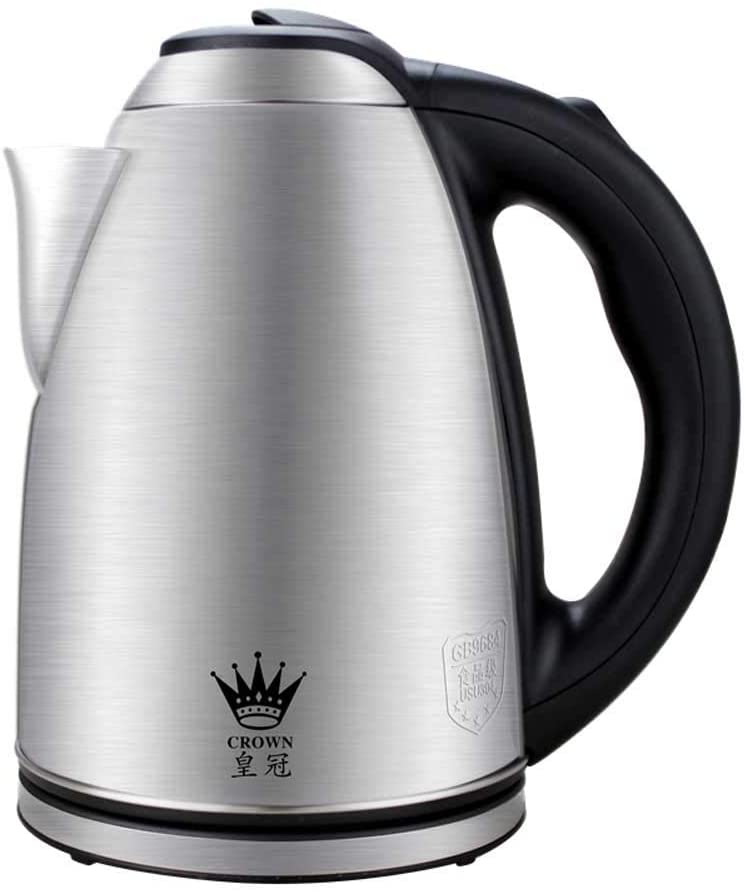 ZXYY Electric Kettle 2L Stainless Steel Kettle Anti-Boiling Protection and Automatic Shutdown with 360 Degree Base Anti-Scald Design