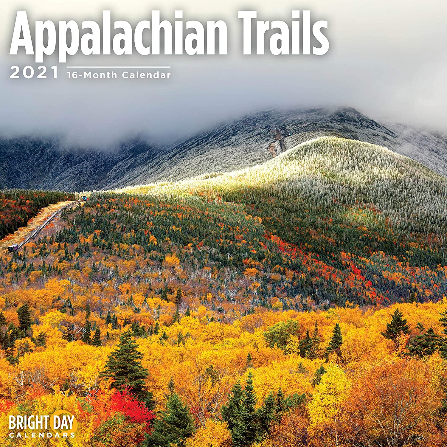 2021 Appalachian Trails Wall Calendar by Bright Day, 12 x 12 Inch, Hiking Nature Mountains