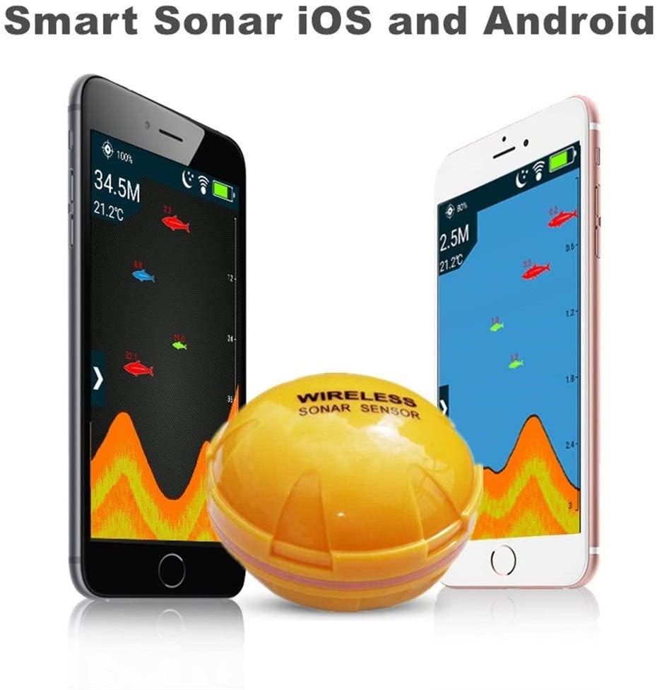 XIWAN Mobile Phone fishfinder Wireless Sonar Fish Finder Depth Sea Lake Fish Detect iOS Android App findfish Smart Sonar Echo Sounder