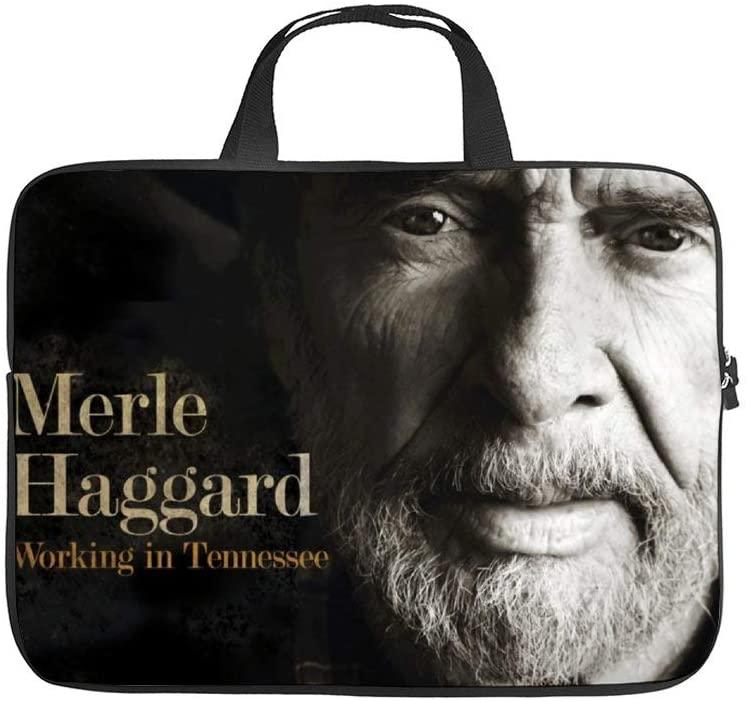 Merle Haggard Unisex Waterproof Briefcase Large Capacity Portable Laptop Bag