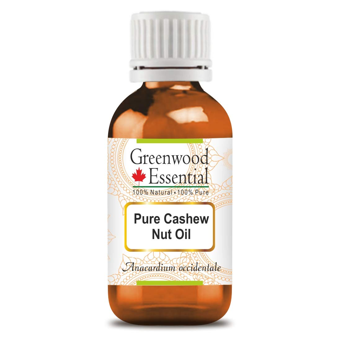 Greenwood Essential Pure Cashew Nut Oil (Anacardium occidentale) Premium Therapeutic Grade for Hair, Skin 30ml (1.01 oz)