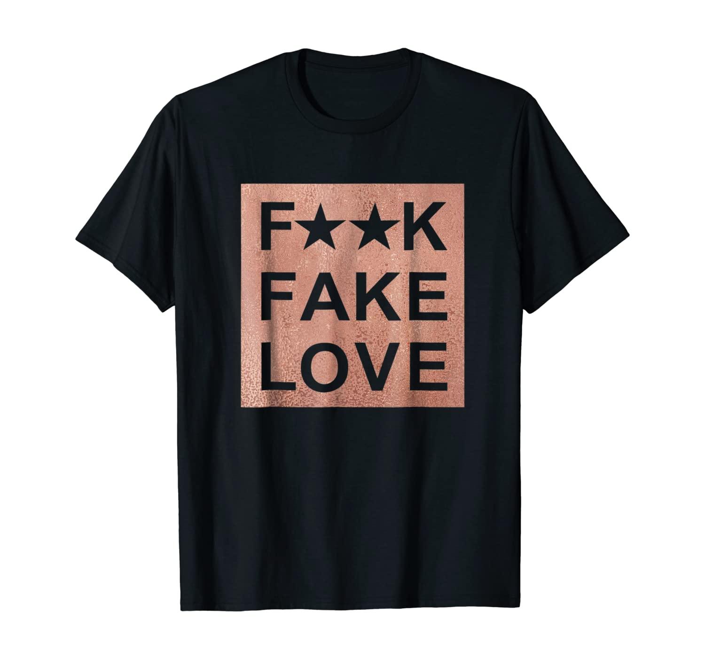 Fake Love Rose Gold T-Shirt Sneaker Heads Basketball shoes