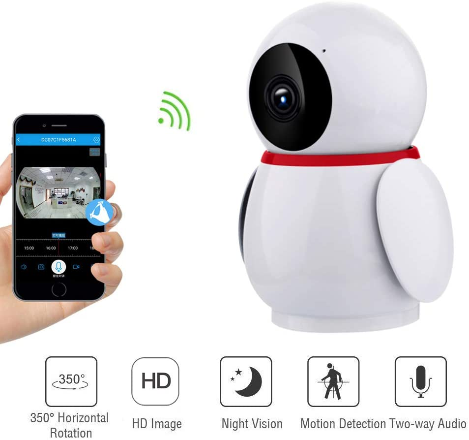 Melesplus Penguin 228ZD Wireless Home Security Camera,Baby/Pets/Elderly Monitor WiFi 1080P HD Indoor Home Video Surveillance Camera with Motion Detection,Night Vision