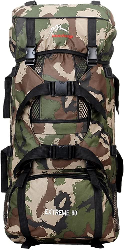 Bagsmall Vintage Travel Hiking Camping Backpack Duffle Backpack Shoulder bags