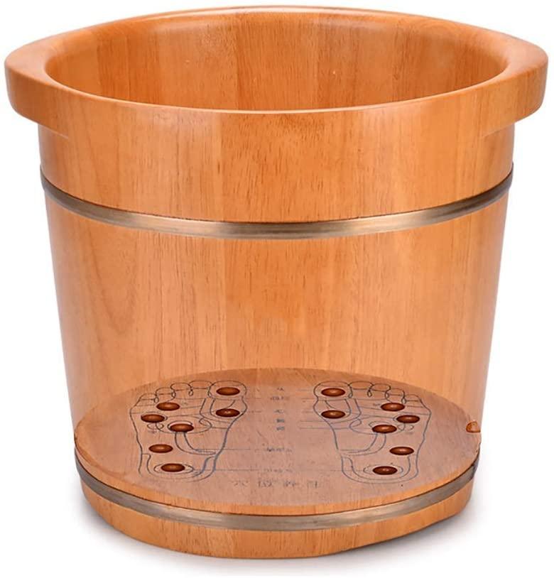 Foot Tub, Oak Foot Tub, Wooden Footbath, Pedicure Basin, Solid Wood Foot Tub, Massage Pedicure Bucket