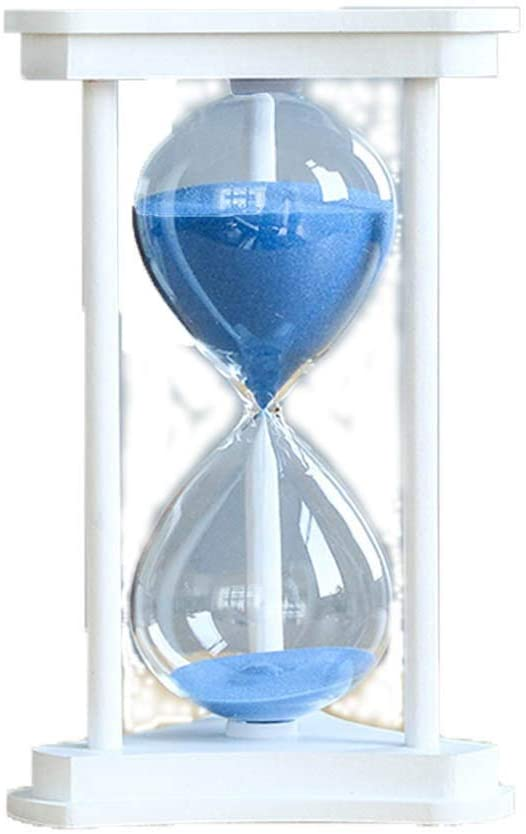 Waitousanqi Time Hourglass Timer 15/60 Minutes Decoration Creative Home Decorations Men And Women Birthday Gift Black White (Color : White, Size : XL)