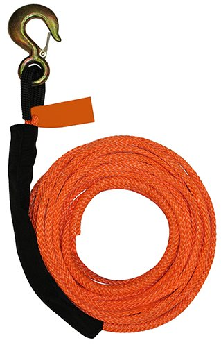 B/A Products 4-R38100 Winch Line, Synthetic, 3/8 x 100, 3T Hook, 3.5 Height, 30 Width, 12 Length
