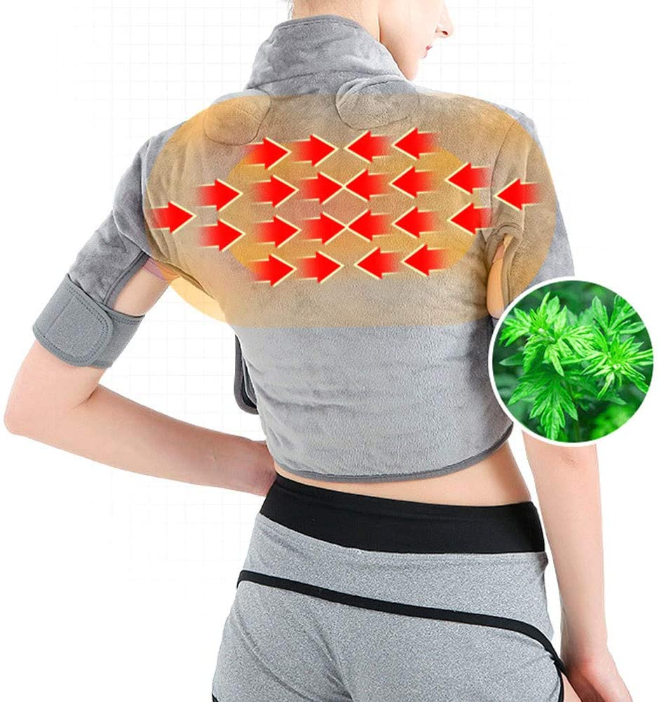 ZSBY Heating Pad Neck & Shoulder Wrap, Heating Pad for Back and Shoulders Pain Relief, Heating Wrap for Neck with Auto Shut Off - 3 Temperature Settings